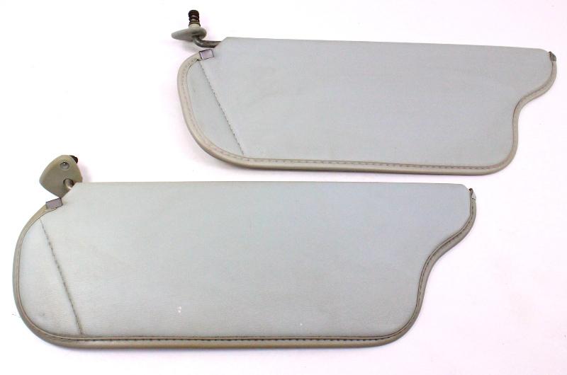 Grey Sun Visor Set Sunvisors 81-84 VW Rabbit Pickup Jetta Mk1 ~ Genuine