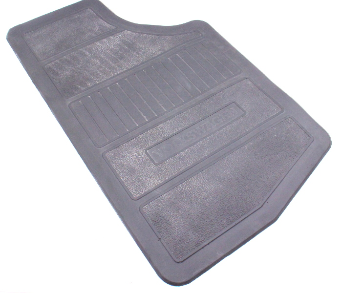 RH Front Rubber Floor Mat 75-84 VW Rabbit GTI MK1 - Vintage - Grey - Genuine