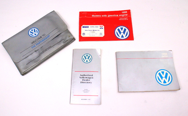 1988 VW Jetta Owners Manual Books MK2 - Genuine