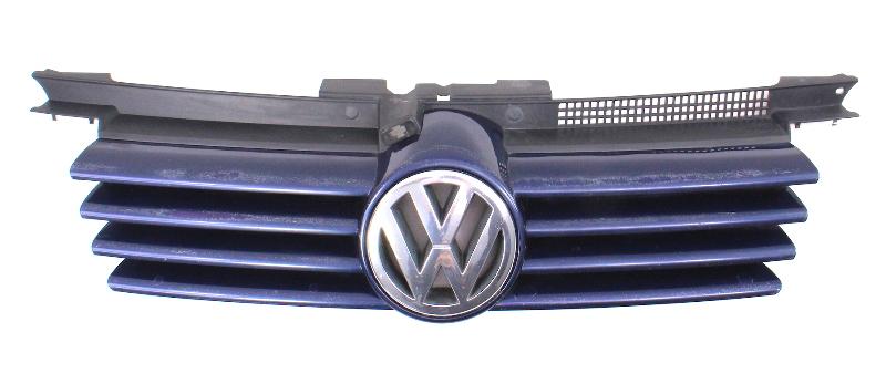 Front Upper Grill Grille 99 05 Vw Jetta Mk4 Lg5v Blue