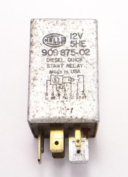 Hella Quick Start Relay VW Jetta Rabbit MK1 Diesel - Genuine - 909 875-02