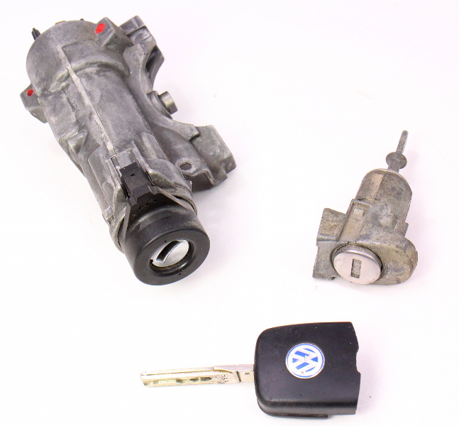 Ignition Handle & Key Set 99-05 VW Jetta Golf MK4 Beetle Passat ~ 4B0 905 851 C