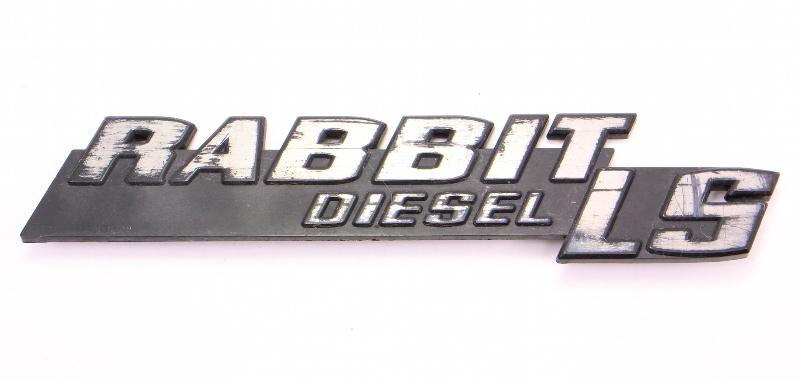 Rabbit LS Diesel Hatch Emblem Badge VW Rabbit MK1 - Genuine - 175 853 687 M
