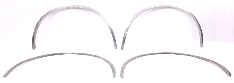 chrome fender arch flare body trim molding set 75-84 vw rabbit mk1