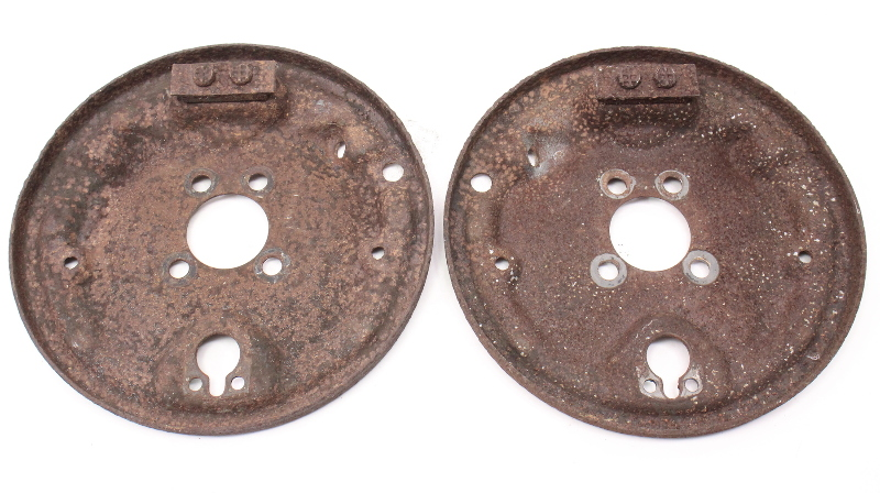 Rear Drum Brake Backing Plate Set Vw Jetta Golf Rabbit