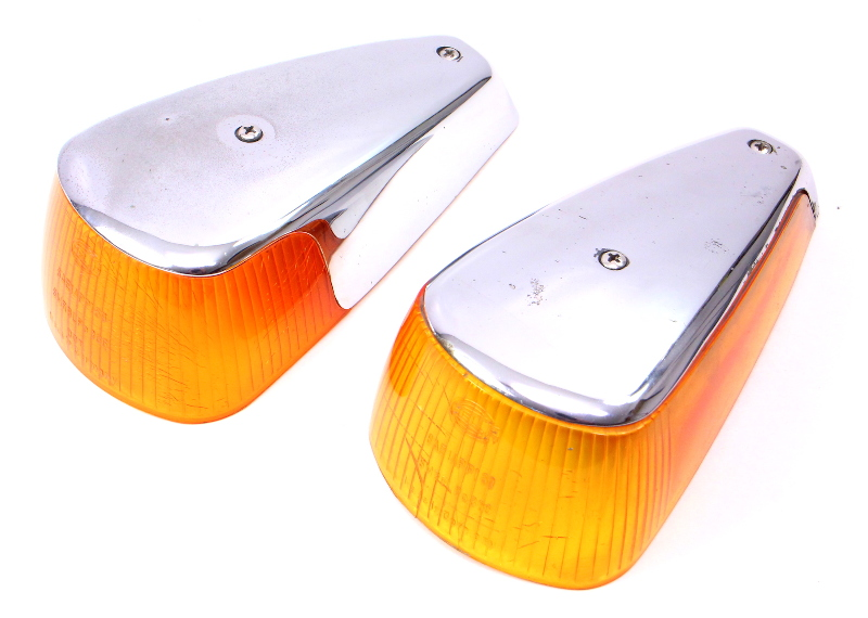 Fender Turn Signal Light Lens Set 70 79 VW Super Beetle