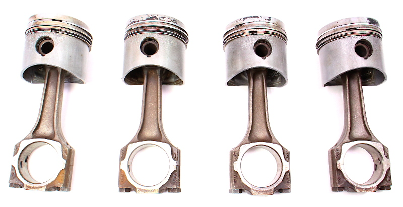 Piston & Connecting Rod Set Audi Fox Rabbit Scirocco Mk1 1.6 YH Gas - Genuine