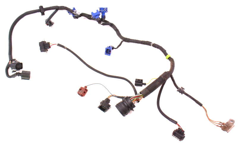 engine wiring injector harness 99 02 vw cabrio mk3 5 obd2 2 0 aba genuine carparts4sale inc
