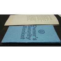 """1974 Rare Vintage """"Wash Me"""" VW Beetle Dealership Brochure Pamphlet Security Blan"""