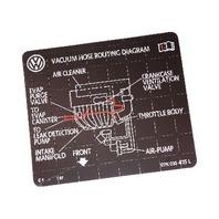 vacuum hose routing diagram sticker vw audi  label     ebay
