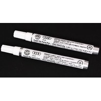 New Touch Up Paint Pen Set - VW Audi - Genuine - L100 Clear & LXA0 Inferno Red