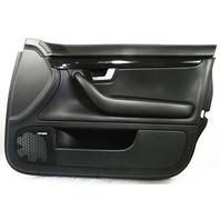 RH Front Interior Door Panel 02-05 Audi A4 B6 Sedan - Black Leather - Genuine