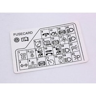 Fuse panel diagram key card 98 05 vw passat b5 genuine 3b0 010 fuse panel diagram key card 98 05 vw passat b5 genuine 3b0 010 ccuart Gallery