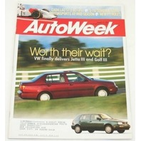 AutoWeek, August 16 1993, VW Jetta Golf III Corrado SLC