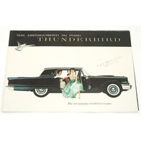 1959 Ford Thunderbird Original Dealer Showroom Brochure