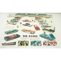 Original Dealer Showroom Brochure Poster - 1958 '58 Ford