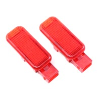 Pair Red Lower Door Panel Interior Light 96-16 Audi A4 S4 A6 S6 A8