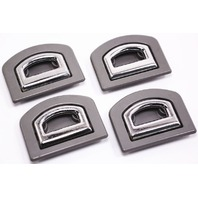 4x Hatch Trunk Tie Down Anchors Set 98-04 Audi A6 C5 - Gray - 1J0 864 203 BC