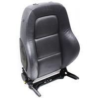 RH Front Seat Backrest 00-06 Audi TT MK1 Roadster - Dark Gray Leather - Genuine