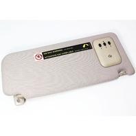 LH Sun Visor w/ Home Link 98-01 Audi A6 C5 - Tan - Genuine - 4B0 857 551 D