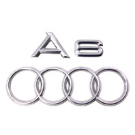 Rear Trunk Emblems Badges 98-04 Audi A6 - Genuine