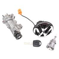 Lock Set Ignition Door Trunk Key 99-05 VW Jetta MK4 MT Genuine - 4B0 905 851 C
