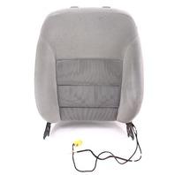 LH Front Seat Back Rest & Side Airbag Grey 99-05 VW Jetta Golf MK4
