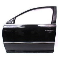 LH Front Door Assembly 04-06 VW Phaeton - L041 Black - Genuine