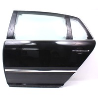 LH Rear Door Shell Assembly 04-06 VW Phaeton - L041 Black - Genuine