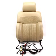 RH Front Seat Back Rest - Massaging / Airbag - 04-06 VW Phaeton - Beige Leather