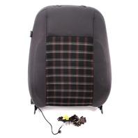 RH Front Sport Seat Back Rest & Air Bag 05-10 VW Jetta GLI GTI MK5 - Gray Plaid