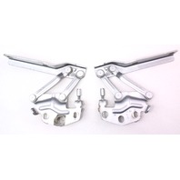 Silver Hood Hinges Pair Set VW Passat 06-10 B6 - Genuine - 3C0 823 302 / 301 D