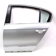 LH Rear Door Shell 06-10 VW Passat Sedan B6 LA7W - Reflex Silver - Genuine