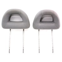 Front Donut Headrests 98-05 VW New Beetle - Head Rests - Grey Cloth - Genuine