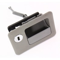 LH Rear Seat Backrest Latch VW Jetta MK4 Sedan Grey - Genuine - 1J5 885 783 A