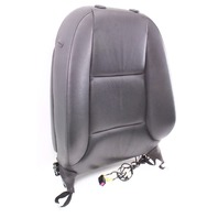 RH Front Seat Upper Back Rest Complete 06-13 Audi A3 8P - Black Leather