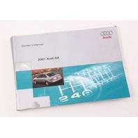 2001 Audi A4 B5 Owner's Manual Case Operation Book - Genuine