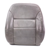 LH Front Seat Back Rest Cover & Foam 99-05 VW Jetta MK4 - Heated Grey Leather