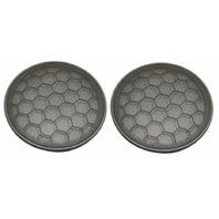 Pair Of Dark Gray Door Speaker Grill Cover 01-05 VW Passat B5.5 Grille