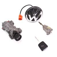Lock Key Set Ignition Trunk 99-05 VW Jetta MK4 MT AT - Genuine - 4B0 905 851 B