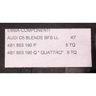 Dash Wood Grain Trim & Quattro Badge - 98-04 Audi A6 C5 Allroad - 4B1 853 190 Q
