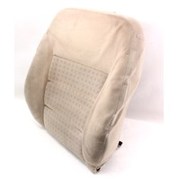 LH Front Seat Back Rest Cover & Foam 99-05 VW Jetta MK4 - Beige Cloth