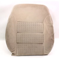 RH Front Seat Back Rest Cover & Foam 99-05 VW Jetta MK4 - Beige Cloth