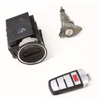 Ignition Lock Set & Key Fob Remote 06-10 VW Passat B6 - Genuine - 3C0 905 843 S