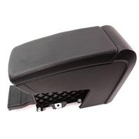 Black Leather Center Console Armrest 06-10 VW Passat B6 Genuine - 3C0 863 319 J