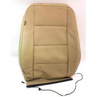 RH Front Seat Back Rest Cover & Foam 05-10 VW Jetta Mk5 Beige Leatherette