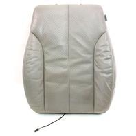 LH Front Seat Back Rest Foam & Cover 06-10 VW Passat B6  - Grey Leather