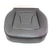 RH Passenger Front Seat Cushion 09-16 Audi A4 B8 - Black Leather - Genuine