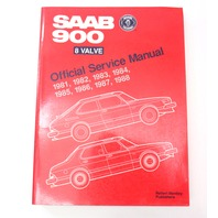 81-88 Saab 900 8 Valve Official Bentley Service Manual 0216531 S988