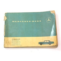 Mercedes Operating Instructions Owners Manual 1967